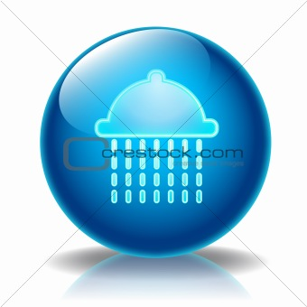 Shower glossy icon