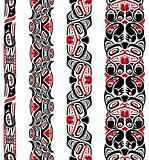 Haida style seamless pattern