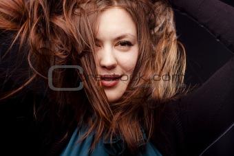 Tousling hair