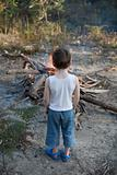 Boy with Bonfire