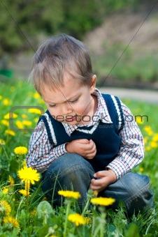 Boy With Dandelion
