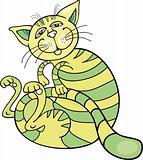 happy green cat
