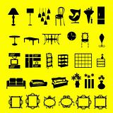 furniture signs. vector