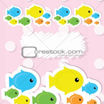Image 3897768: card with fish from Crestock Stock Photos .