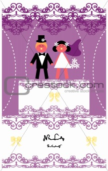 Wedding invitation /love couple card