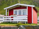 Norwegian red cottage