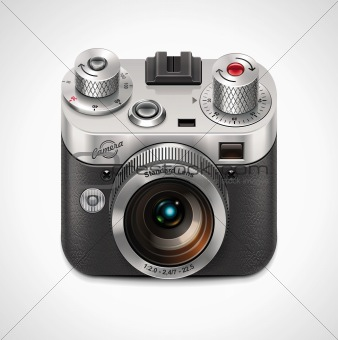Vector retro camera XXL icon