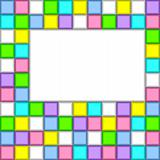 Background of colored squares.