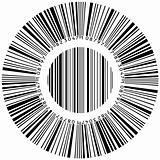Abstract circular bar code