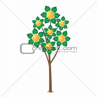 Abstract lemon tree