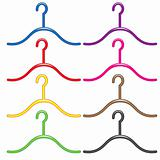 Set of colorful hangers