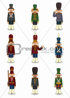 cartoon Toy soldiers icon