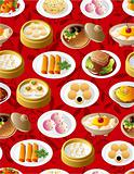 seamless chinese food pattern