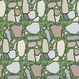Seamless Flagstone in Grass