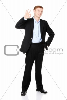 Portrait of young handsome businessman