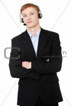 Charming customer service representative