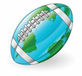 World globe football ball concept