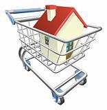 House shopping cart concept