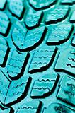 Vibrant blue rubber tire texture