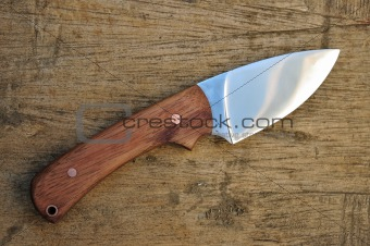Hand made hunting knife