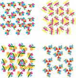 Set of repeating geometric patterns