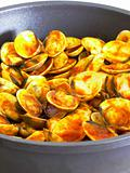 pan of chili clams