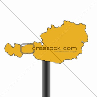 Austria road sign