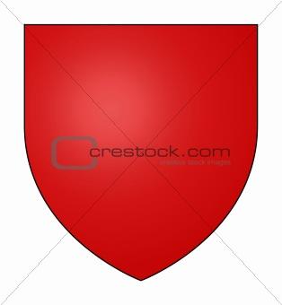 Blank red shield
