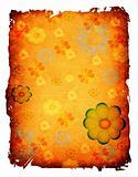 flowers on grunge paper