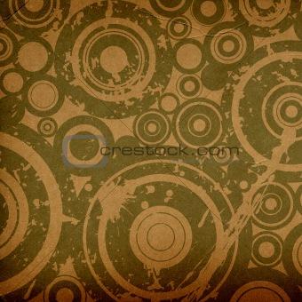 grunge circles composition