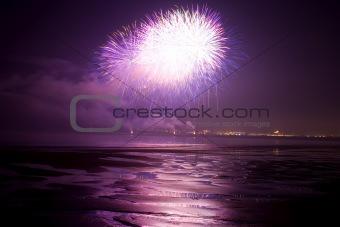 Firework at the beach