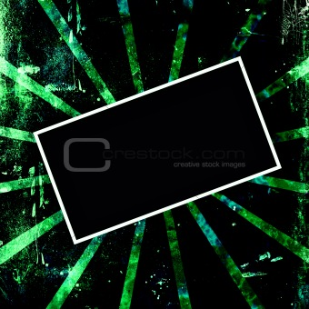 Green and Black Grunge Frame