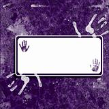 Purple Handprint Grunge Background