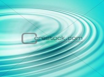 Green water ripple
