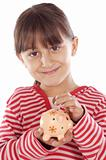 girl whit money box