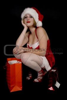 A female santa