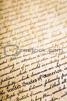 Declaration of Independence background