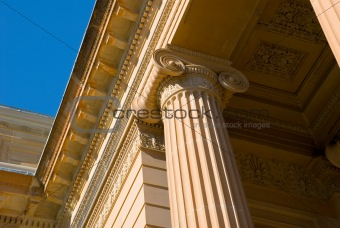 Classical Detail of Ionic Column and Capital