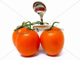 Tomatoes, Pot and a Spoon