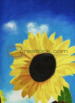 painted sunflower