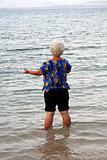 Woman wading
