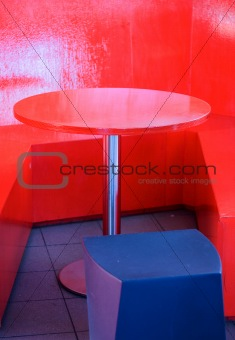 Abstract Red Table