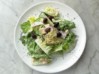 caesar salad top shot