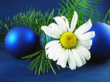 christmas ornamentation with white flower