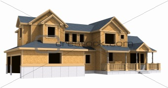 3d model of unfinished ranch house