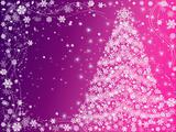 christmas tree pink and violet