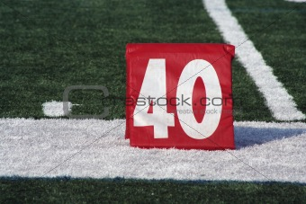 Football forty yard marker