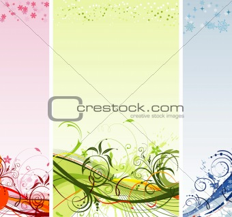 Grunge flower and Christmas background