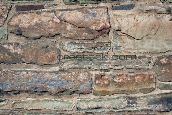 Old rock building wall