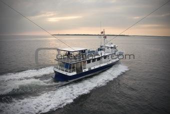 Passenger ferry boat.
